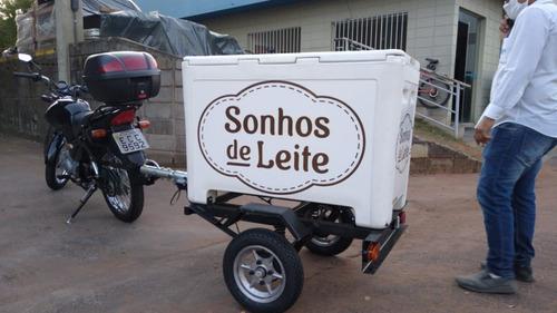 Carretinha Ambulante, Térmico, Carrinho Ambulante, Pra Moto