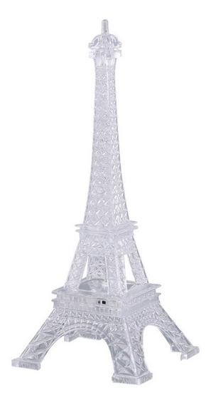 15 Centro De Mesa Torre Eiffel Con Luz 20cms