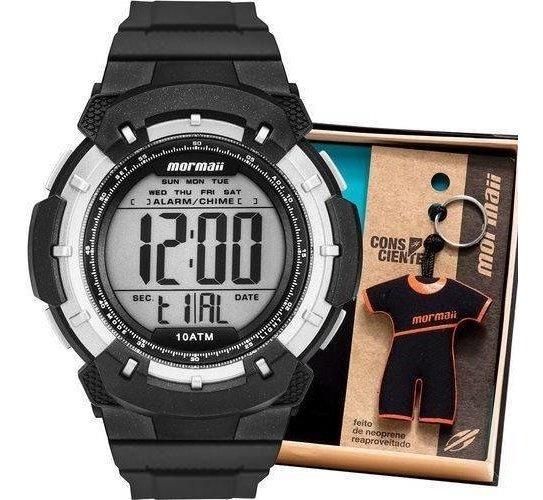 Kit Relógio Mormaii Wave Com Chaveiro Mo3571/k8p