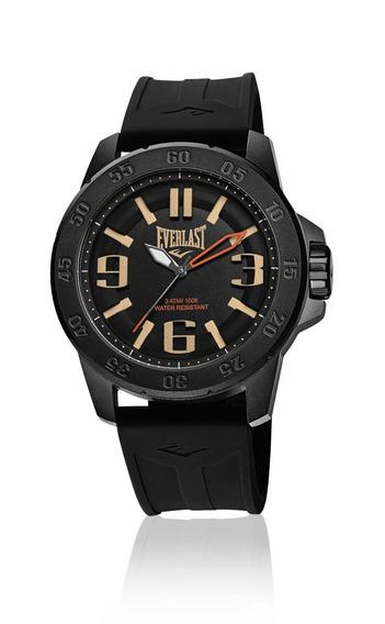 Relógio Pulso Everlast Masculino Esporte Silicone Preto E697