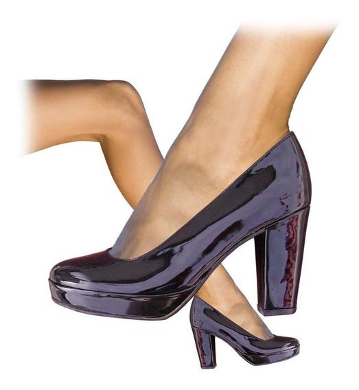 Moda Comodísimos Elegantes Zapatos Clasicos Con Plataforma Baja Taco 11 Cm. En Talles Grandes Marca Mundocross