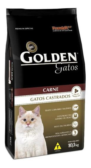 Ração Golden Premium Especial Gato Castrado Carne 10,1kg