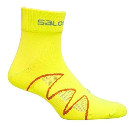 Media Masculina Salomon - Xa Pro Fluo M Amarillo/rojo - Hiki