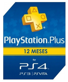 Cartão Psn Playstation Plus 12 Meses Unica Ps4 Online