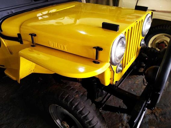 Cj3 Jeep Willys 4x4 Placa Preta