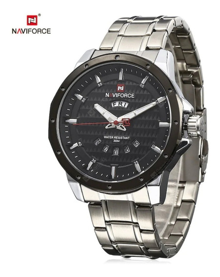 2 Relógio Masculino Naviforce 9115 Aço Inoxidável