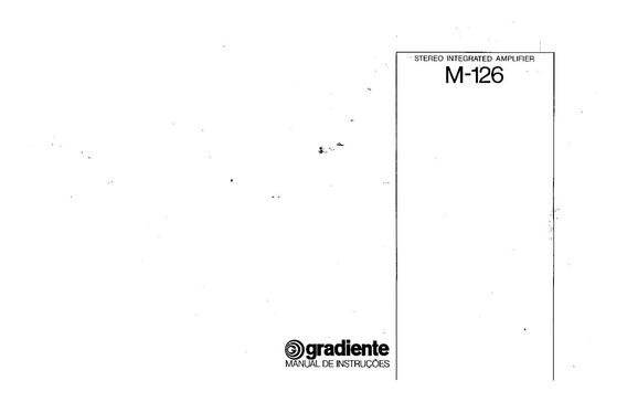 Manual Amp Gradiente Model 126 - Cópia Digital 7 Pags