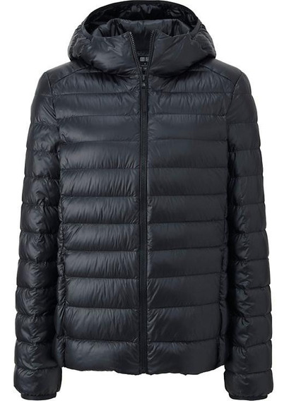 Campera Uniqlo Ultra Light Down Parka Negra Capucha