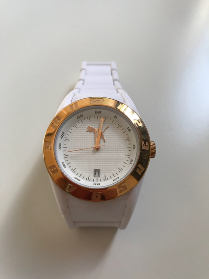 Relógio Feminino Puma - Branco Com Dourado