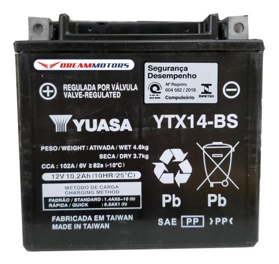 Bateria Original Yuasa Ytx14-bs Bmw F800gs F700gs R1200gs