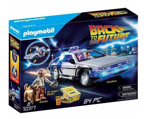 Imagen 1 de 10 de Playmobil Volver Al Futuro 70317  Auto Delorean Playking