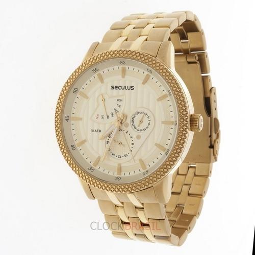 Relógio De Pulso Seculus 60609gpsgda2 - Dourado