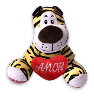 Tigre Peluche Económico Corazón Amor C/ Sonido Te Amo