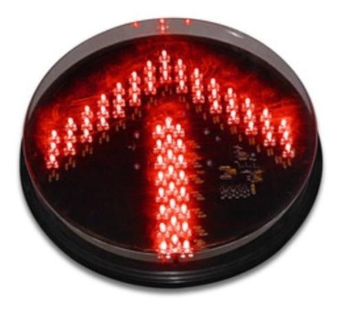 Lampara Led Para Semaforo Vial De 300mm Flecha Color Rojo