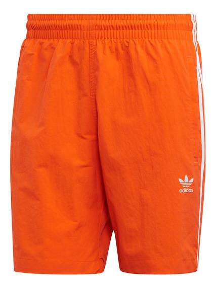 Short De Baño Moda adidas Originals 3 Stripes Hombre