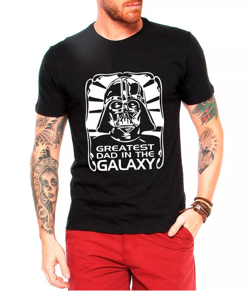Camiseta Masculina Star Wars Darth Vader Greatest Dad In The