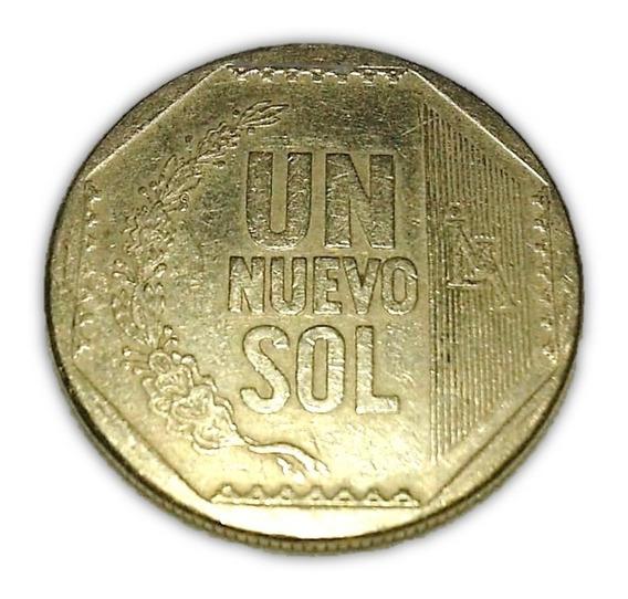 Moeda 1 Um Nuevo Sol Peruano - Peru 2009 Cedula Dinheiro Niq