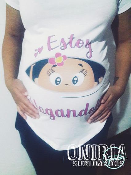 Remeras Personalizadas Para Embarazadas Y Baby Shower !