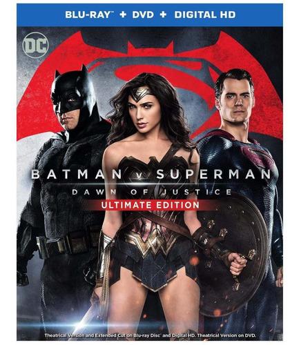 Blu-ray + Dvd Batman V Superman / Ultimate Extendida