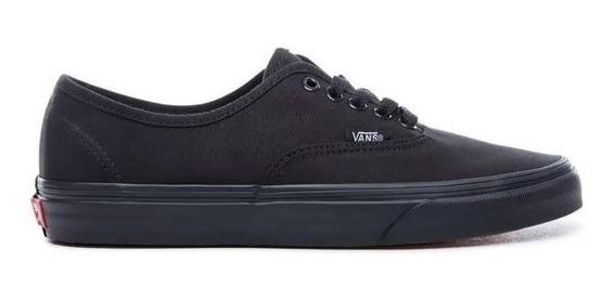 Zapatillas Vans Authentic Negro Negro Tela 100% Original