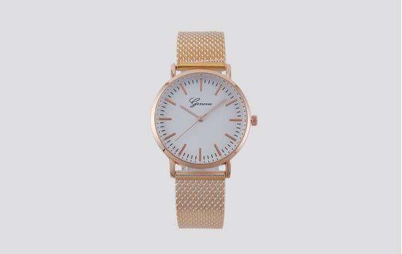 Reloj Mujer Vintage Correa De Malla Estilo Casual