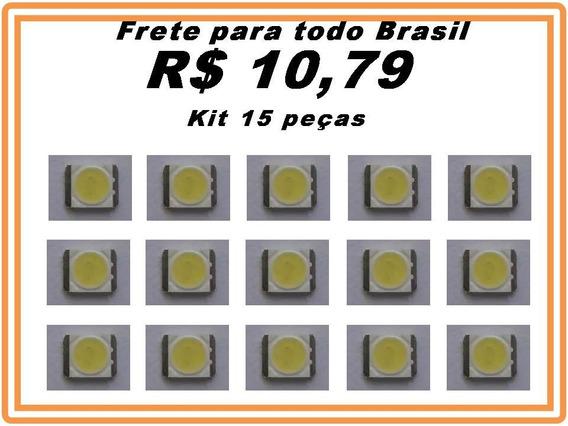 Led Backlight 3535 6v 2w Tv Lg - Novo Kit 15 Peças Promoção