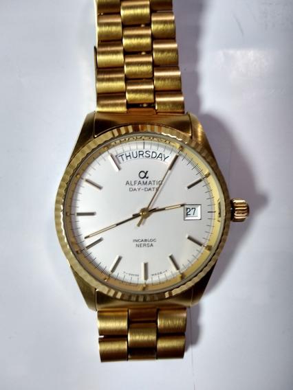 Reloj Clasico Original Alfamatic Day-daty Automatico