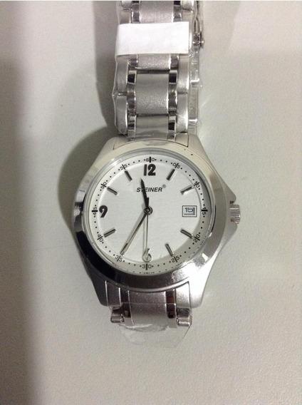 Reloj De Pulso Marca Steiner Original Acero Inoxidable