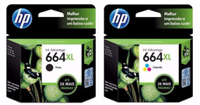 Kit 2 Cartucho Original Hp 664xl ( Preto + Color ) Lacrado