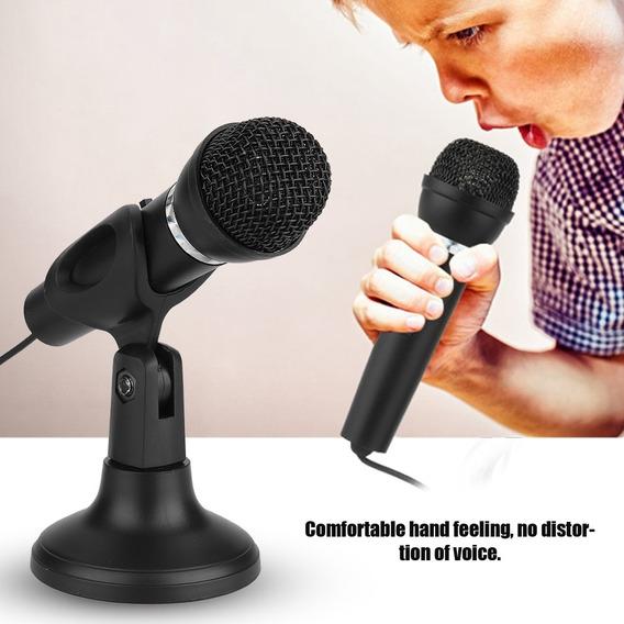Microfone Multimédios Do Condensador 3.5mm Para A Gravaçã
