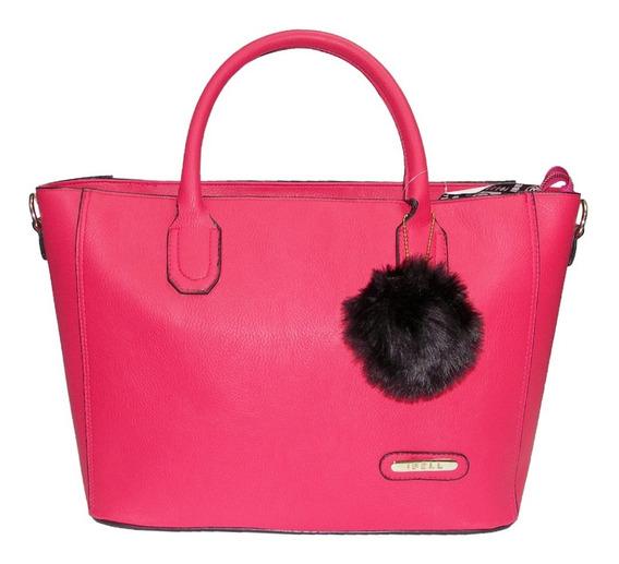 Bolsa De Dama Fashion Vinipel Tornasol Flores Ibell