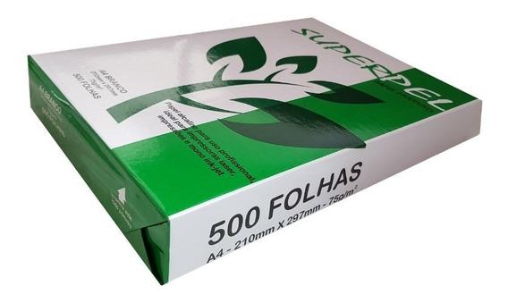 Papel Sulfite A4 Super Pel 500fls 75gr - Caixa C/ 10 Pacotes