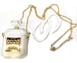 Funda AirPods Estuche Perfume Cristal Diseño Correa Aipods