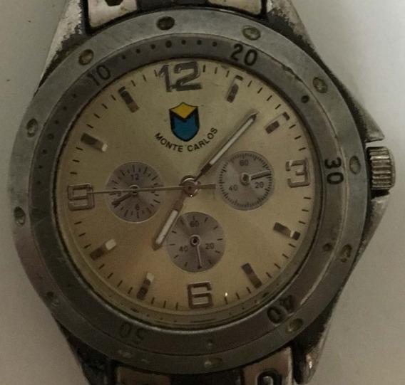 Relógio Monte Carlo, Alarme Cronógrafo, Prata, Stainless Ste