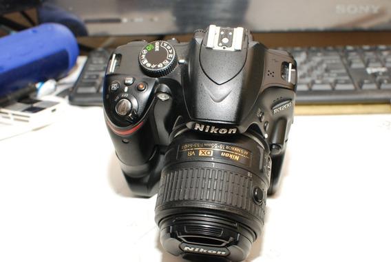 Camera Nikon D3200 Com Grip 2 Baterias Carregador