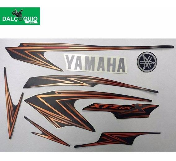 Faixa Adesiva Yamaha Xtz 125 X 2009 Preta Motard
