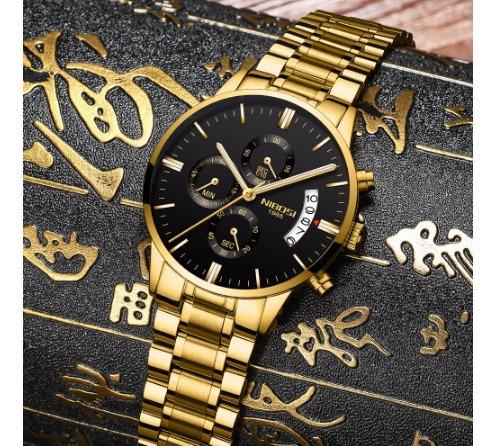 Relógio Masculino Nibosi Executivo Funcional Barato