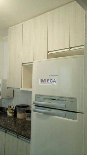 Imagem 1 de 24 de Apartamento Com 2 Dormitórios À Venda, 57 M² Por R$ 220.000,00 - Parque Camélias - Campinas/sp - Ap5219