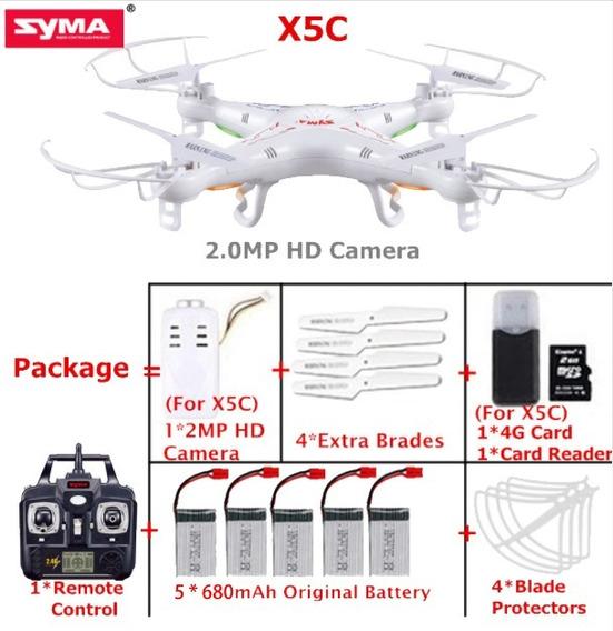 Drone Syma X5c Câmera 2 Mp,+ 5 Baterias-pronta Entrega! Novo