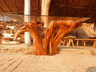 Raiz Natural Para Base De Comedor / Muebles De Madera