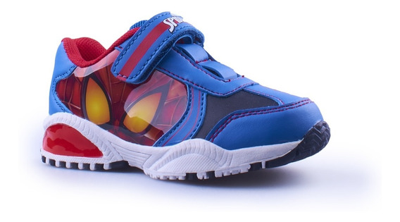 Zapatillas Spiderman Marvel Con Luces Nuevas Fty Calzados