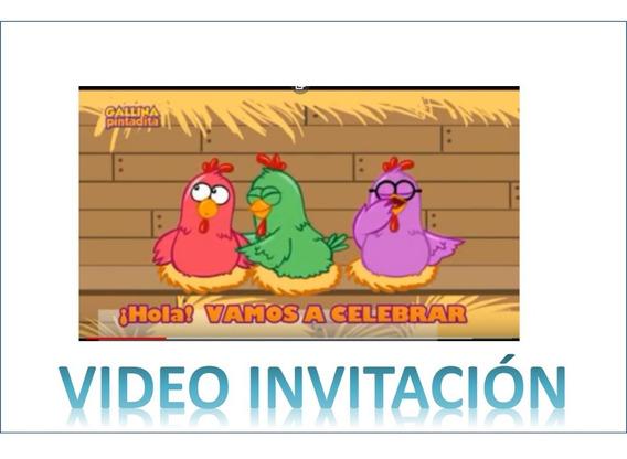 Invitacion De Cumpleaños Gallina Pintadita Souvenirs