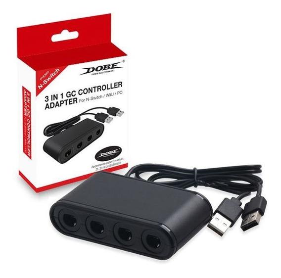 3x1 Adaptador Controle Nintendo Switch/pc/wii U Frete Grátis
