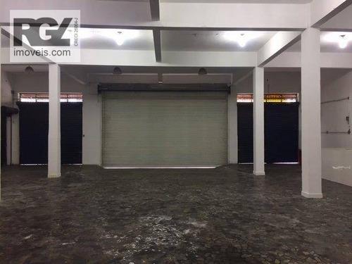 Imagem 1 de 21 de Galpão Para Alugar, 1000 M² Por R$ 15.000,00/mês - Valongo - Santos/sp - Ga0047