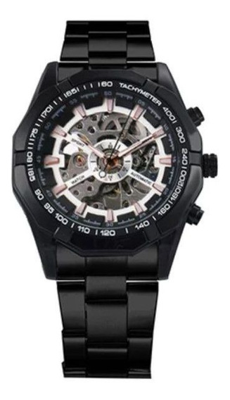 Relógio Masculino Forsining Esq Analógico Mec Automático