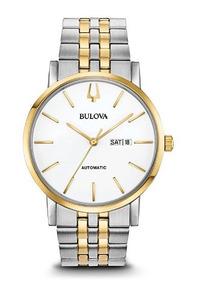 Relógio Masculino Bulova Branco/prata/dourado Automático