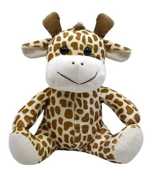 Girafa De Pelúcia 28cm Sentada - Safari - Linda!!!