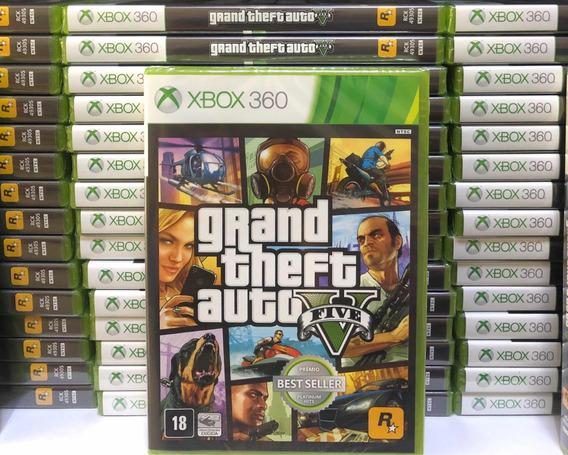 Gta 5 Xbox 360 Mídia Física Original Incluso Mapa