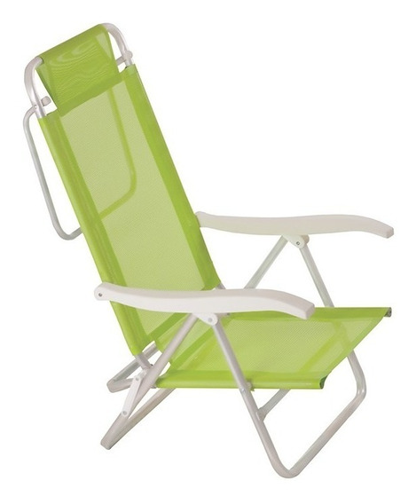 Cadeira De Praia Alumínio Sol De Verão Fashion Verde - Mor