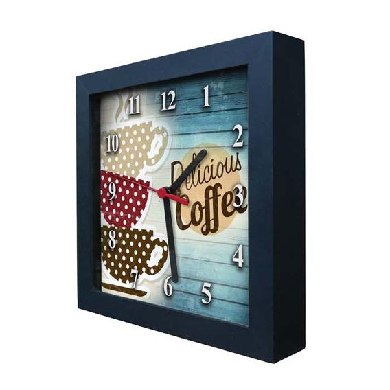 Relógio Decorativo Caixa Alta Tema Café - Qw018